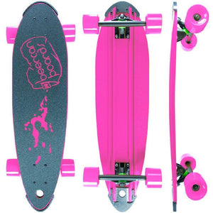 "Beercan Pink 30"" Pin Tail Longboard - Longboards USA"