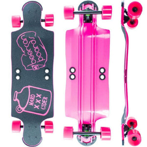 "Beercan Pink 35"" Hard Cider Longboard - Longboards USA"