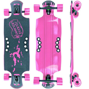 "Beercan Pink 35"" Oat Soda Drop Through Longboard - Longboards USA"
