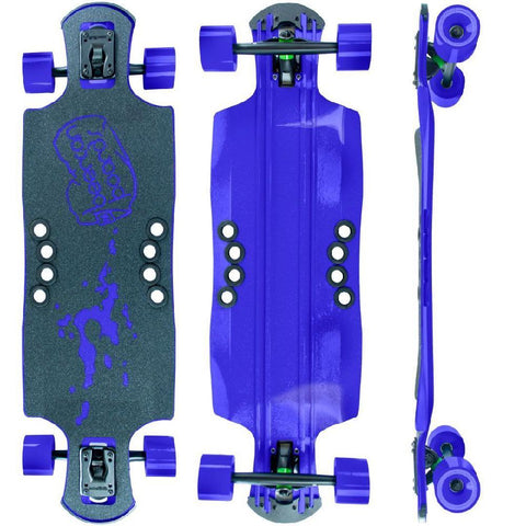 "Beercan Purple 35"" Oat Soda Drop Through Longboard - Longboards USA"
