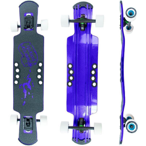 "Beercan Purple 37"" Kegger Lite Drop Through Longboard - Longboards USA"