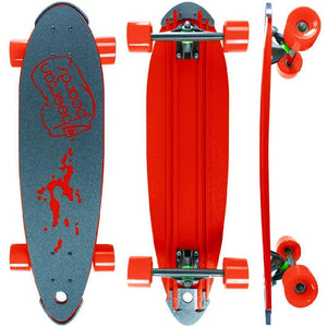 "Beercan Red 30"" Pin Tail Longboard - Longboards USA"