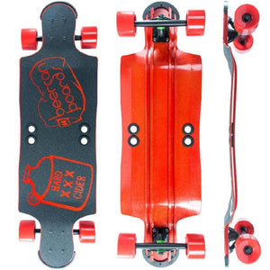 "Beercan Red 35"" Hard Cider Longboard - Longboards USA"