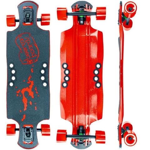 "Beercan Red 35"" Oat Soda Drop Through Longboard - Longboards USA"