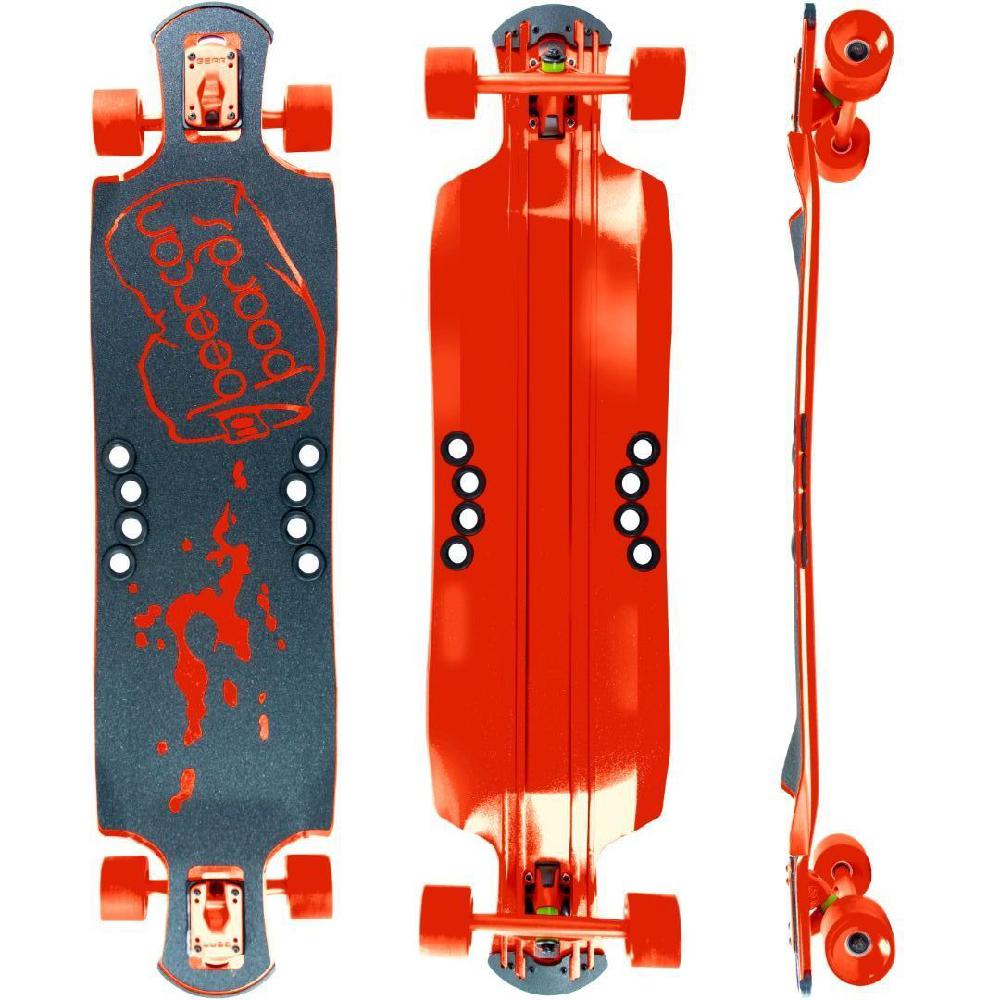 "Beercan Red 42"" Oat Soda Drop Through Longboard - Longboards USA"