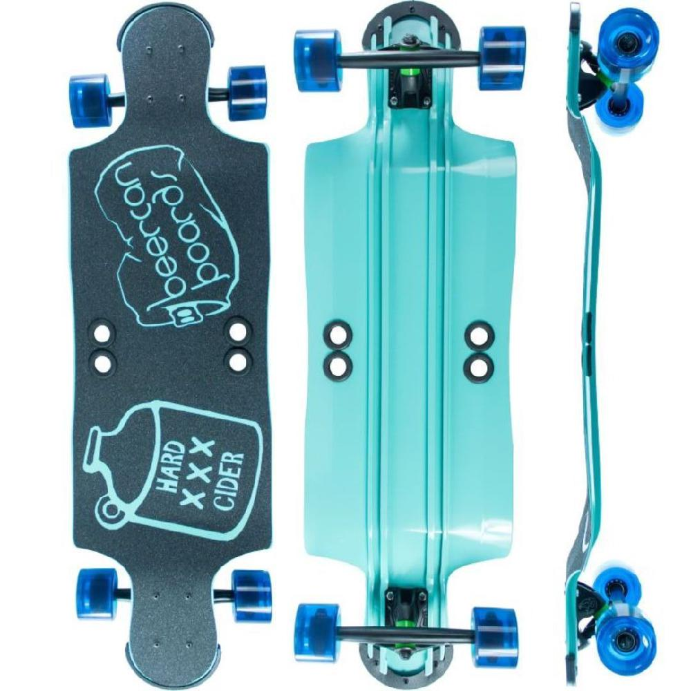 "Beercan Sea Foam Green 35"" Hard Cider Longboard - Longboards USA"