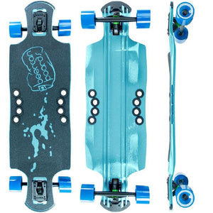 "Beercan Sea Foam Green 35"" Oat Soda Drop Through Longboard - Longboards USA"