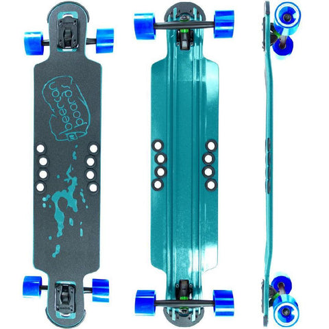 "Beercan Sea Foam Green 38"" Hoke Drop Through Longboard - Longboards USA"