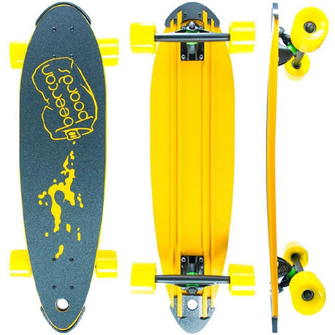 "Beercan Yellow 30"" Pin Tail Longboard - Longboards USA"