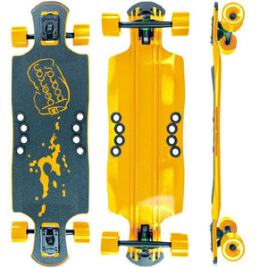 "Beercan Yellow 35"" Oat Soda Drop Through Longboard - Longboards USA"
