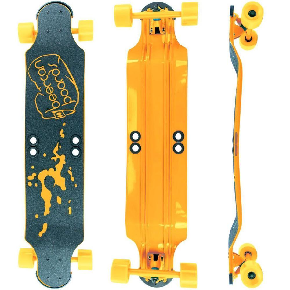 "Beercan Yellow 38"" Root Beer Longboard - Longboards USA"