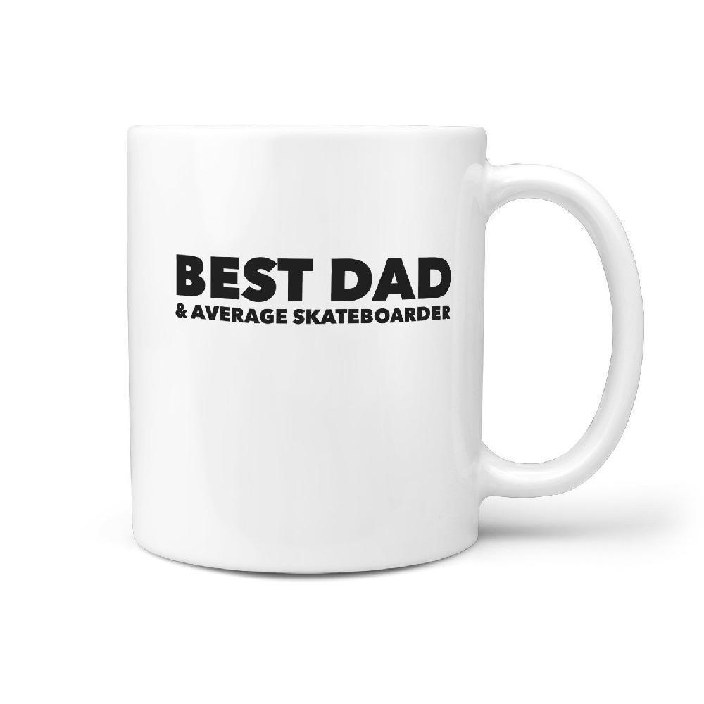 Best Dad & Average Skateboarder Mug - Longboards USA
