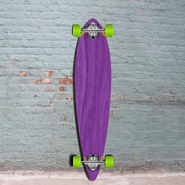 Best Purple Pintail Longboard 40 inch from Punked - Complete - Longboards USA