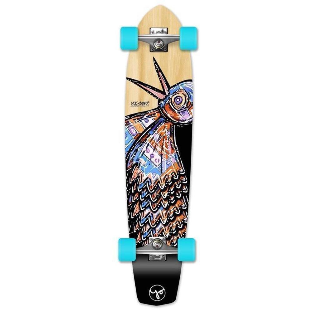 "Bird Natural 36"" Slimkick Longboard from Punked - Complete - Longboards USA"