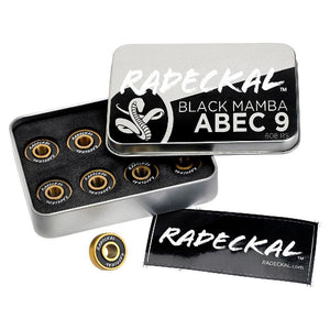Black Mamba Abec9 Longboard Skateboard Bearings - Longboards USA