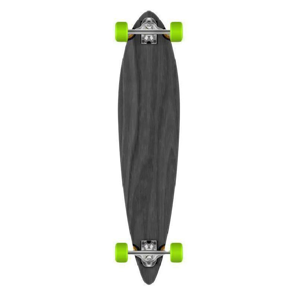 Black Pintail Longboard 40 inch from Punked - Complete - Longboards USA