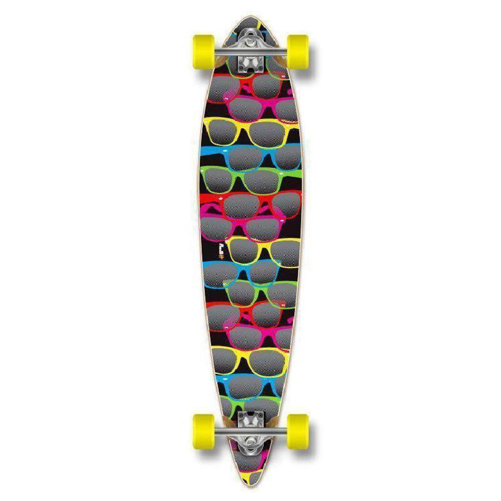 Black Pintail Shades Longboard 40 inch from Punked - Complete - Longboards USA