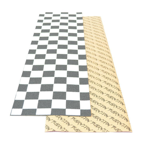 "Black Widow Checkered Longboard Skateboard 9""x 33"" Griptape Sheet - Longboards USA"