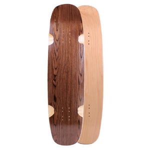 "Blank Double Kicktail Topmount Dark Walnut 36"" Longboard Deck - Longboards USA"