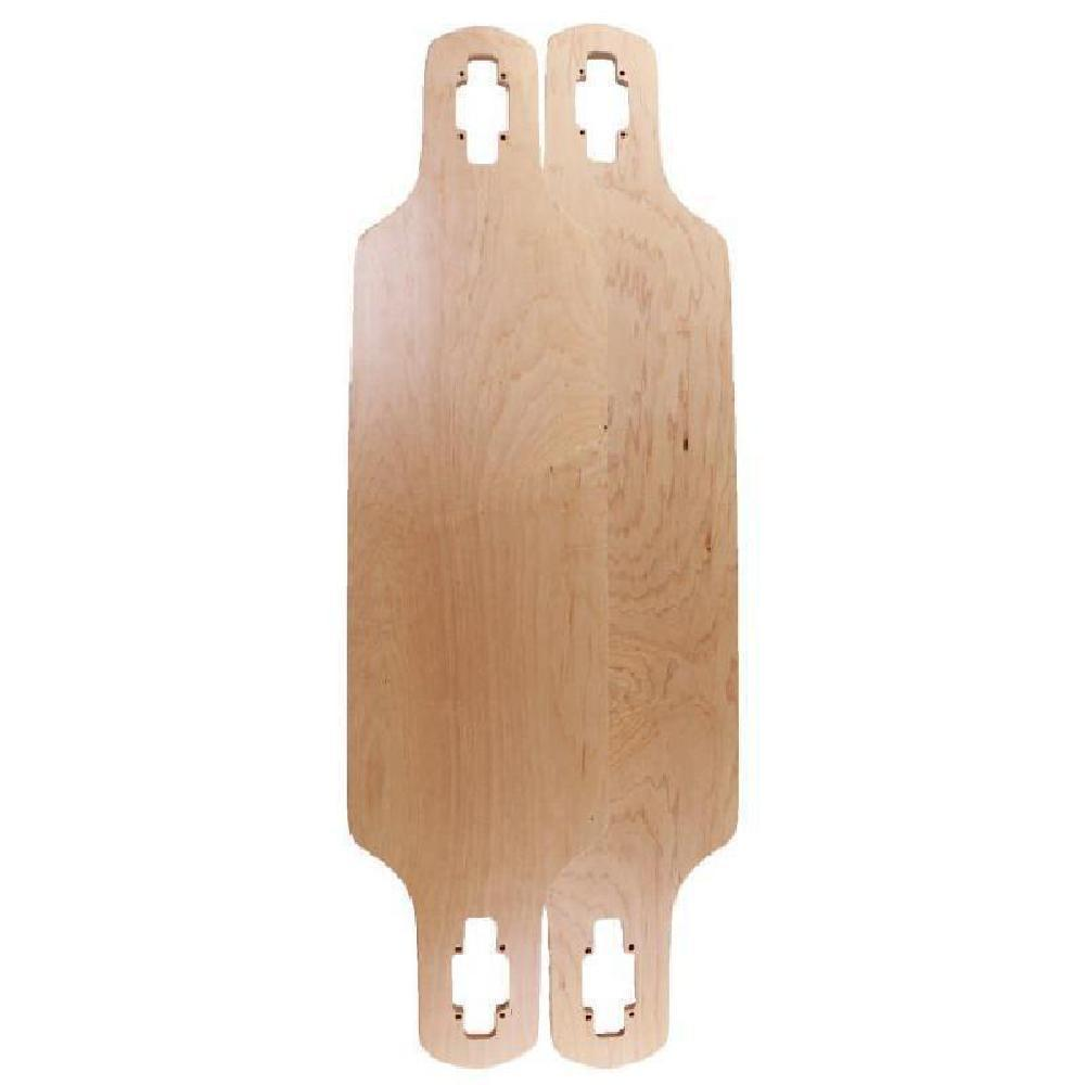 Blank Drop Through Natural 39 inches Longboard Deck - Longboards USA