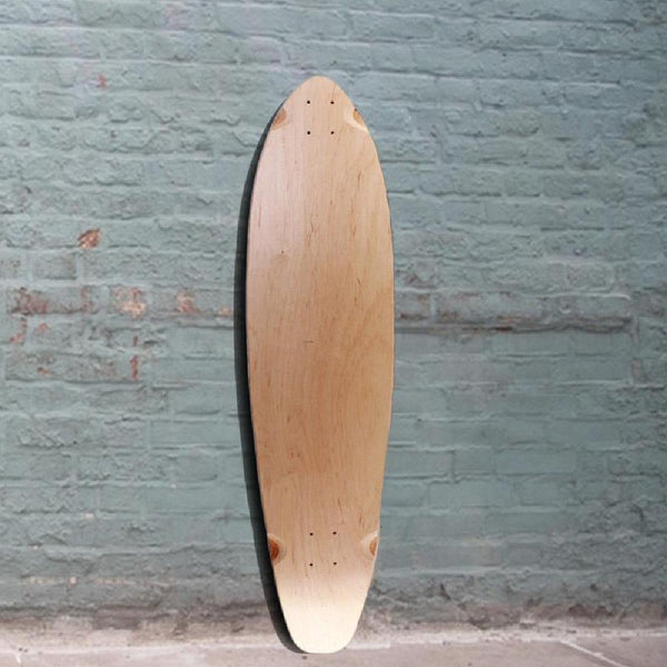 Blank Kicktail Natural 40 inches Longboard Deck - Longboards USA