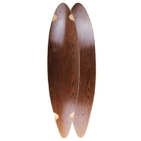 "Blank Pintail Dark Walnut 40"" Longboard Deck - Longboards USA"