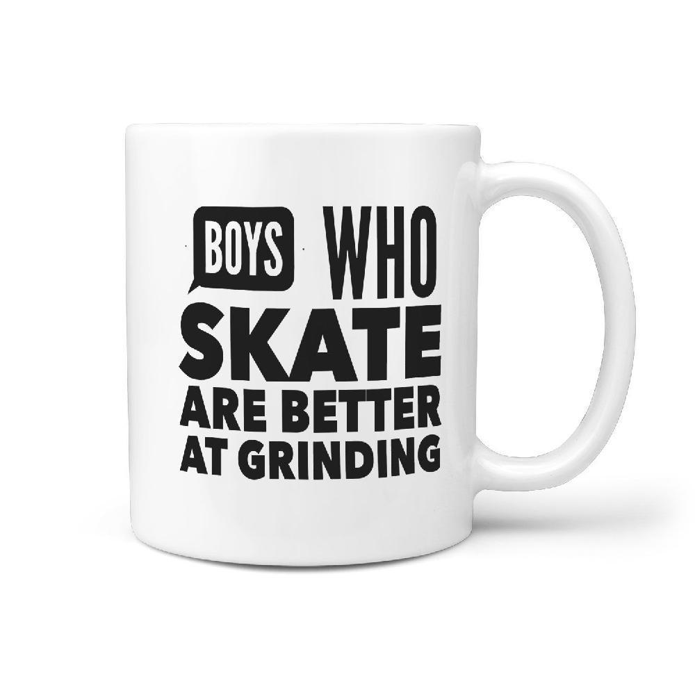 Boys who skate are better at grinding Mug - Longboards USA