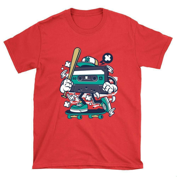 Cassette Skateboarder T-Shirt - Longboards USA