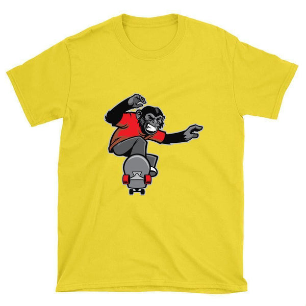 Chimp Skateboarder T-Shirt - Longboards USA