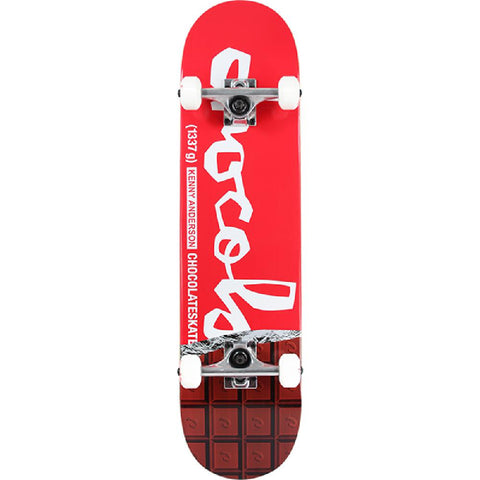 "Chocolate Anderson Chocolate Bar in Red 7.75"" Skateboard - Longboards USA"