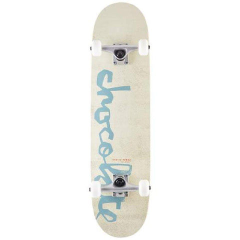 "Chocolate Perez in White OG Chunk 7.75"" Skateboard - Longboards USA"