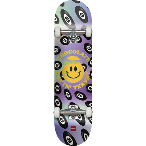 "Chocolate Tershy Mind Blown Smiley Face 8.25"" Skateboard - Longboards USA"
