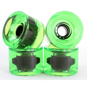 Clear Green 70mm Gel Soft Longboard Wheels - Longboards USA