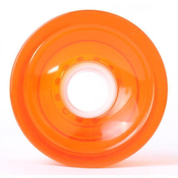 Clear Orange Blank Cruiser Longboard Wheels 70mm 78a - Longboards USA