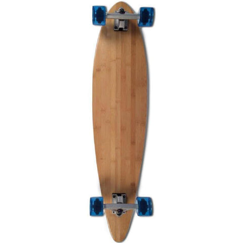 "Complete 39"" x 9"" Bamboo Pintail Longboard - Longboards USA"