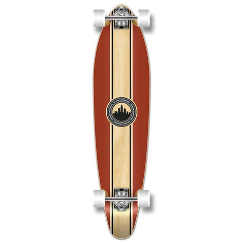 "Crest 40"" Kicktail Longboard from Punked - Complete - Longboards USA"