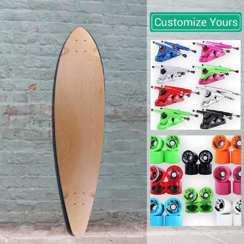 Custom Blank Pintail Natural 40 inches Longboard - Longboards USA