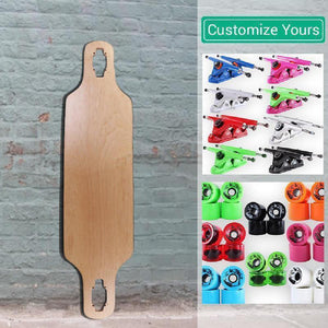 Custom Natural Blank Drop Through 39 inches Longboard - Longboards USA