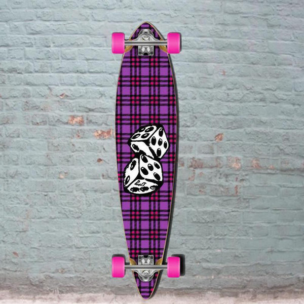 Dice Pintail Longboard 40 inch from Punked - Complete - Longboards USA