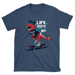 Dino Skateboarding T-Shirt - Longboards USA