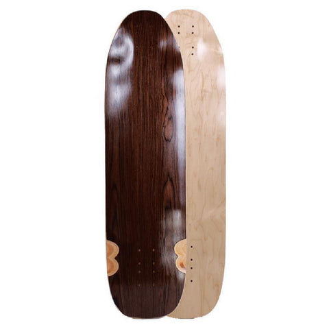 "Downhill Kicktail Blank Topmount Dark Walnut 36"" Longboard Deck - Longboards USA"