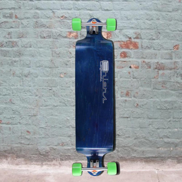"Drop Down Bomber Blue Longboard 41"" from Ehlers - Complete-Longboards USA"