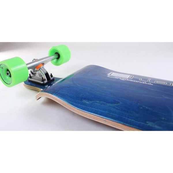 "Drop Down Bomber Blue Longboard 41"" from Ehlers - Complete - Longboards USA"