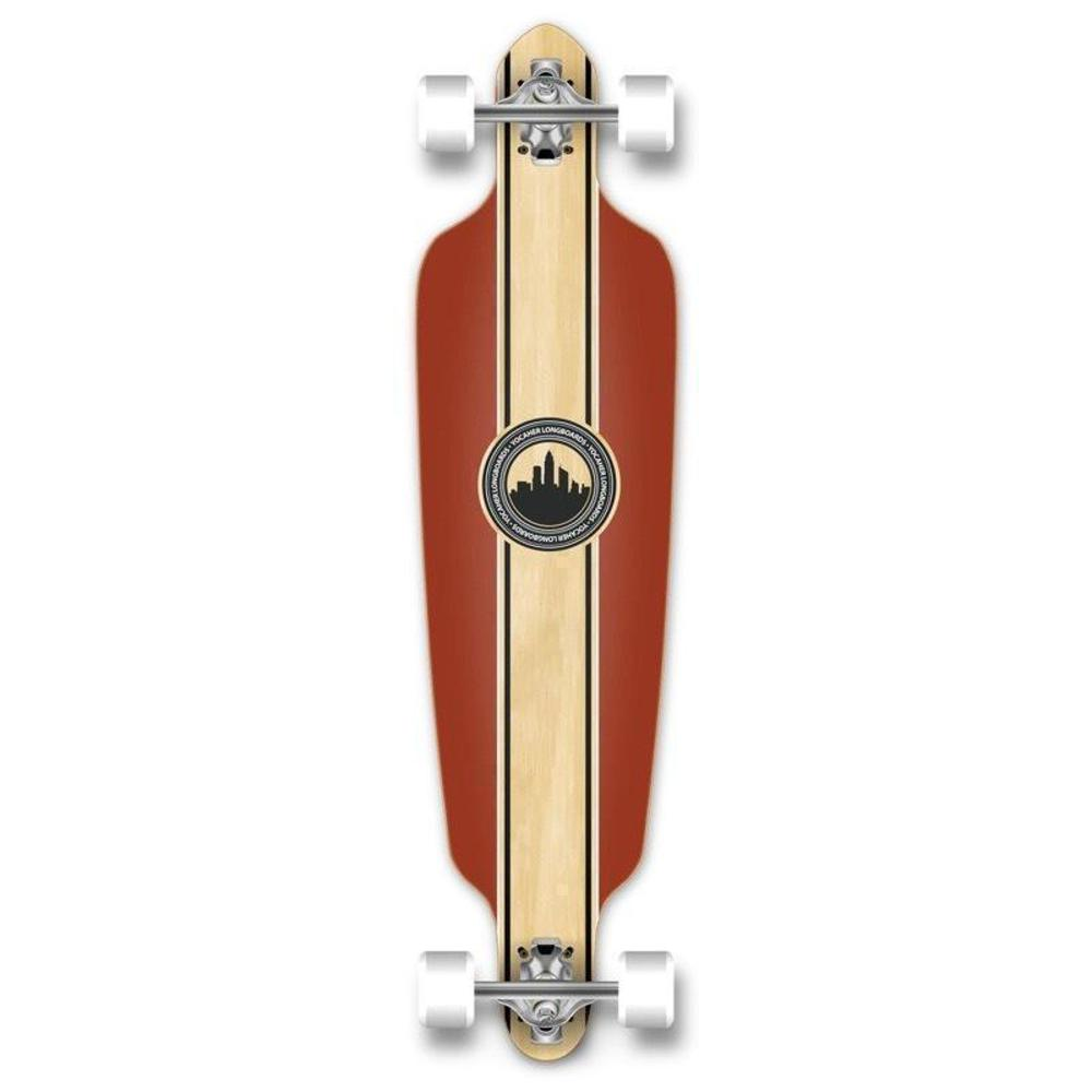 "Drop Through Longboard Crest 41"" Graphic from Punked - Longboards USA"