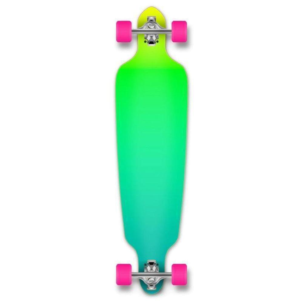 "Drop Through Longboard Gradient Green 41"" Graphic from Punked - Longboards USA"
