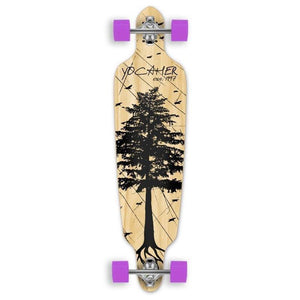 "Drop Through Longboard Pines Natural 41"" Graphic from Punked - Longboards USA"