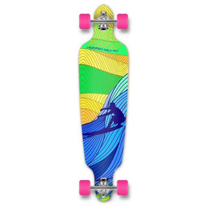 "Drop Through Longboard Surf's up 41"" Graphic from Punked - Longboards USA"