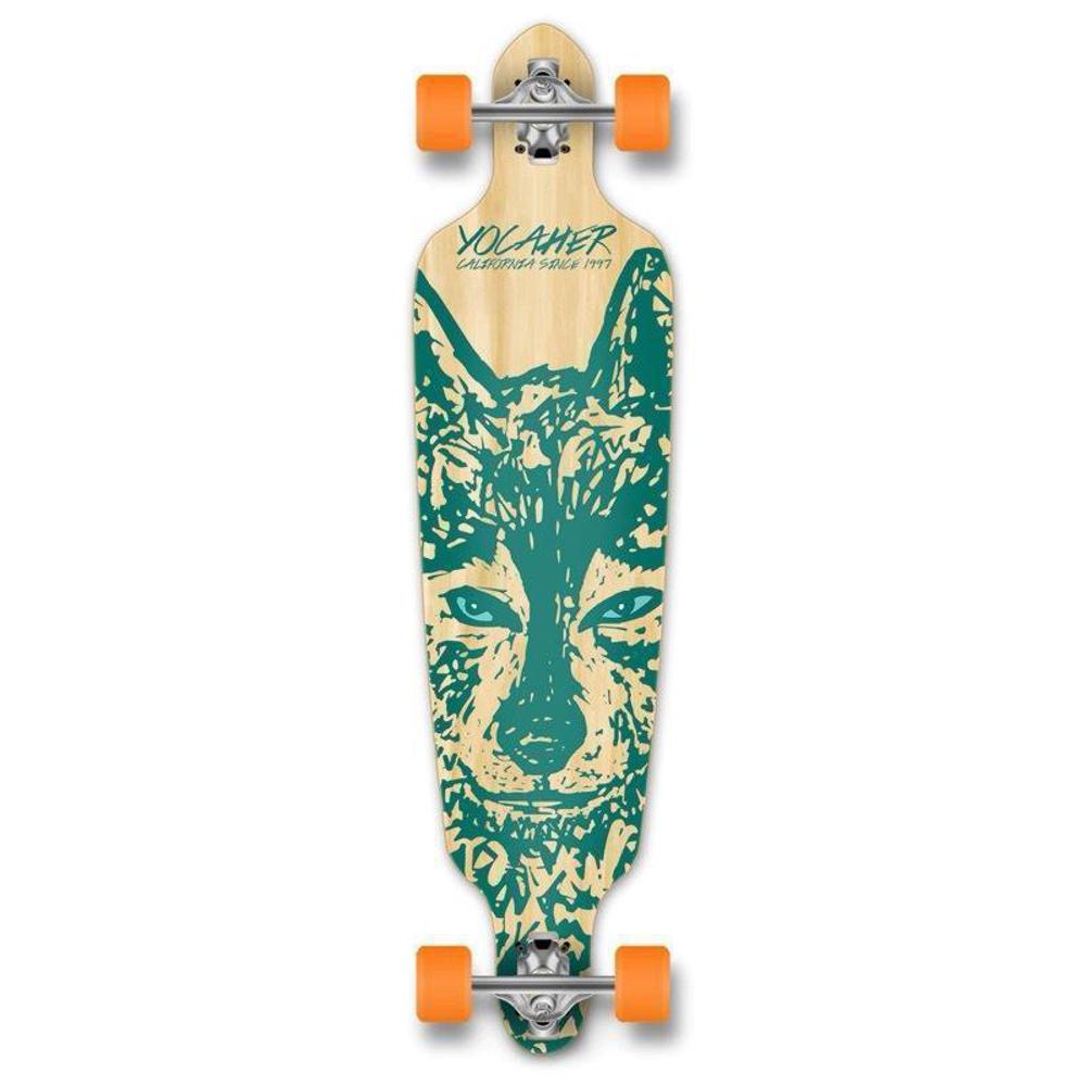 "Drop Through Longboard Wolf 41"" Graphic from Punked - Longboards USA"