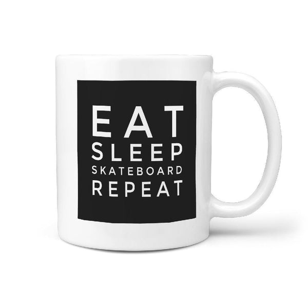 Eat Sleep Skateboard Repeat | Funny Skateboarding Coffee Mug Gift Idea - Longboards USA
