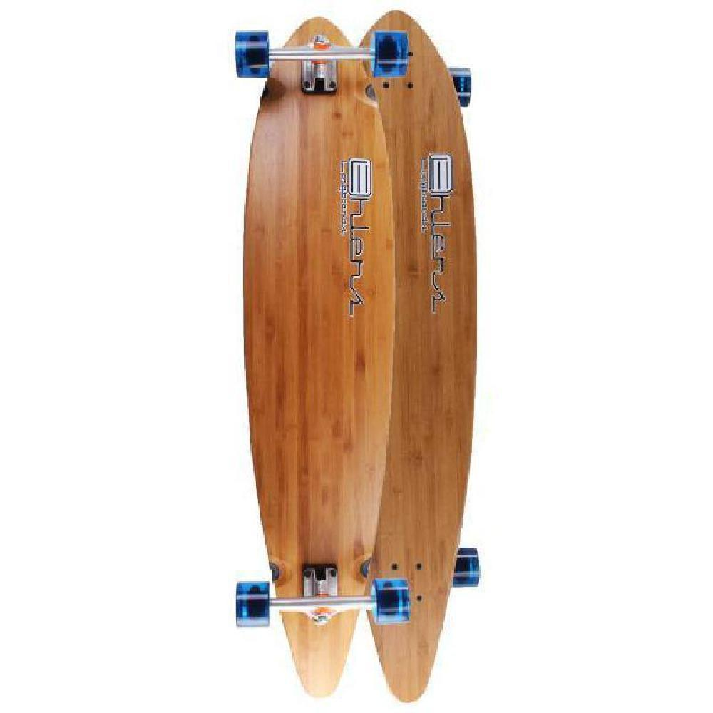 "Ehlers Logo 44"" Bamboo Pintail Cruiser Longboard Complete - Longboards USA"